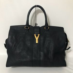Authentic YSL Cabas Chic Tote Navy